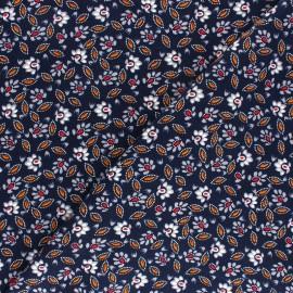 Tissu Viscose Alda - bleu marine x 10cm