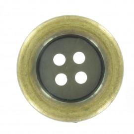 Clown Button - antique gold