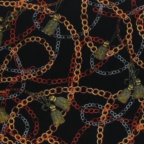 Viscose fabric - black Magellan x 10 cm