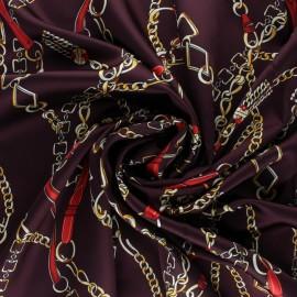 Tissu satin élasthanne Vasco - violet x 10cm