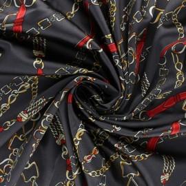 Elastane satin fabric - grey Vasco x 10cm
