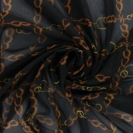 Tissu mousseline Conti - noir x 50cm