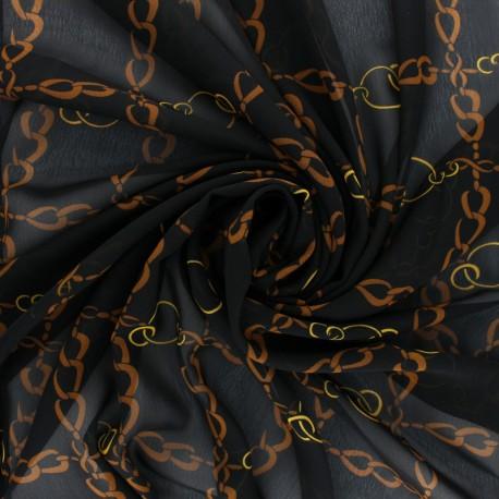 Muslin Fabric - black Marco Polo x 50cm