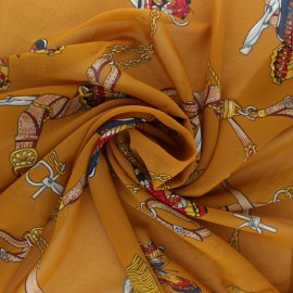 Tissu mousseline Marco Polo - ocre x 50cm