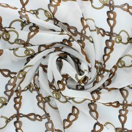 Tissu mousseline Conti - écru x 50cm
