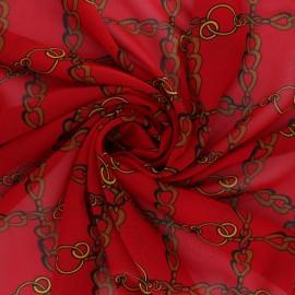 Tissu mousseline Conti - rouge x 50cm