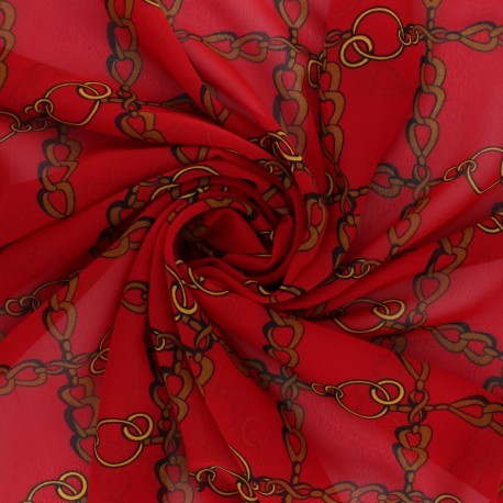Muslin Fabric - red Conti x 50cm