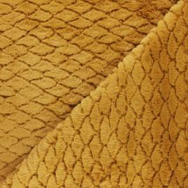 Fourrure écaille - jaune ocre x 10cm