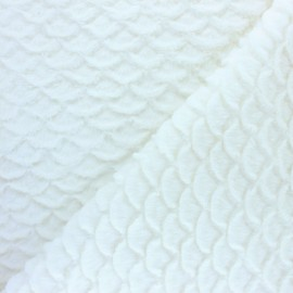 Fur fabric - Raw Fish scale x 10cm