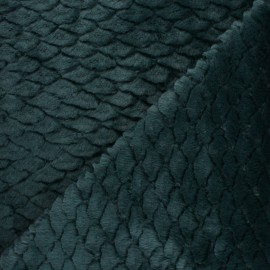 Fur fabric - Green Fish scale x 10cm