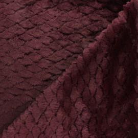 Fourrure écaille - lie de vin x 10cm
