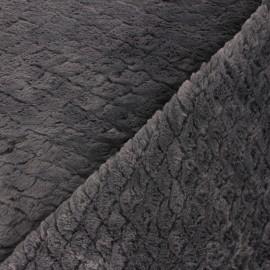 Fur fabric - Grey Fish scale x 10cm