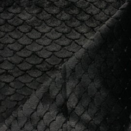 Fourrure écaille - noir x 10cm