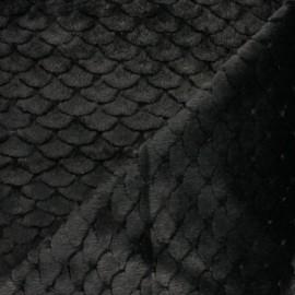Fur fabric - Black Fish scale x 10cm
