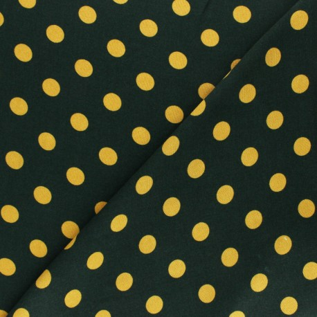 Viscose Fabric - Green Ines x 10cm