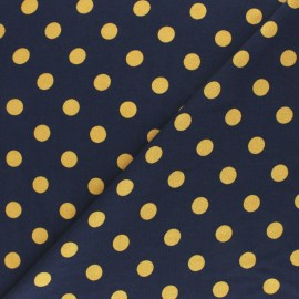 Viscose Fabric - Navy blue Ines x 10cm
