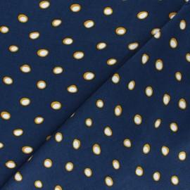 Tissu Viscose Paola - Bleu x 10cm