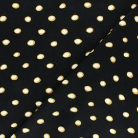 Viscose Fabric - Black Paola x 10cm