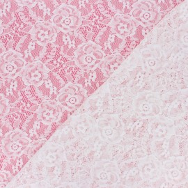 Elastane Lace Fabric - raw Amanda x 10cm