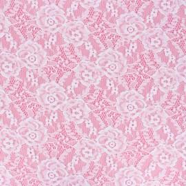 Tissu Dentelle élasthanne Amanda - blanc x 10cm