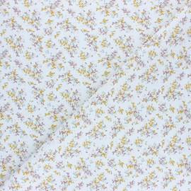 Tissu coton cretonne Branchette - blanc x 10cm