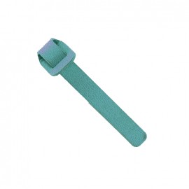 Faux-leather zipper pull - Turquoise
