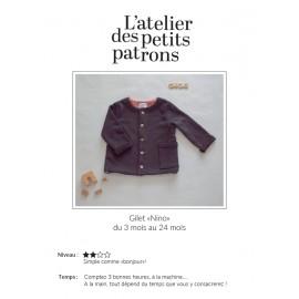 Vest Sewing Pattern - L'Atelier des Petits Patrons Nino