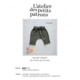 Harem Pants Sewing Pattern - L'Atelier des Petits Patrons Ambre