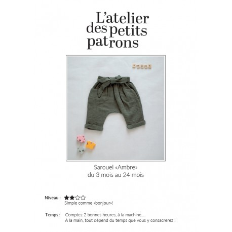 Patron Sarouel L'Atelier des Petits Patrons - Ambre