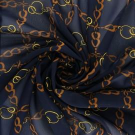 Muslin Fabric - navy blue Conti x 50cm