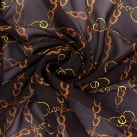 Tissu mousseline Conti - lie de vin x 50cm