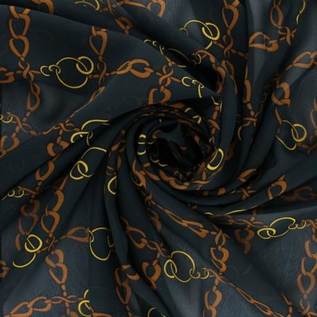 Tissu mousseline Conti - vert foncé x 50cm