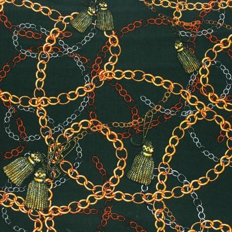 Viscose fabric - green Magellan x 10 cm