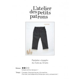 Pants Sewing Pattern - L'Atelier des Petits Patrons Joseph