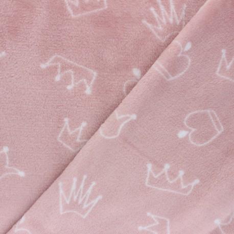 Tissu Doudou étoilé - blanc x 10 cm