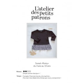 Sweatshirt Sewing Pattern - L'Atelier des Petits Patrons Romy