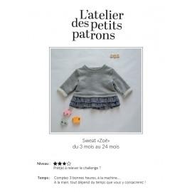 Sweatshirt Sewing Pattern - L'Atelier des Petits Patrons Zoé