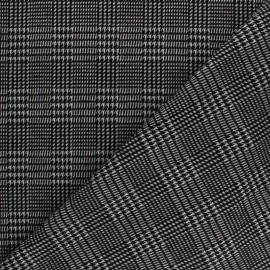 Light Knitted jersey fabric - Light grey stars x 10cm