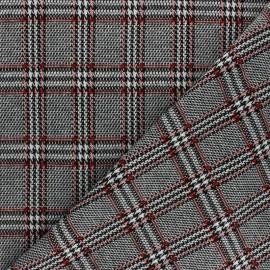 Tissu jersey maille écossais - noir x 10cm