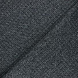 Tissu jersey matelassé simple face losanges - argent x10cm