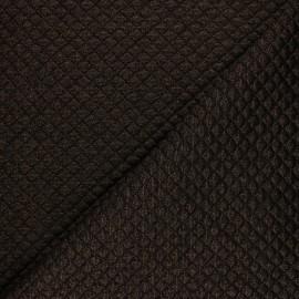 Tissu jersey matelassé simple face losanges - cuivre x10cm