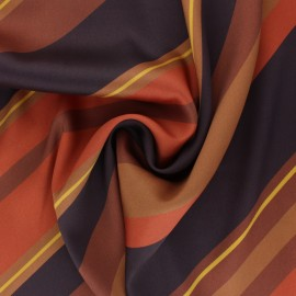 Matte Polyester satin fabric - brown Farrah x 50cm