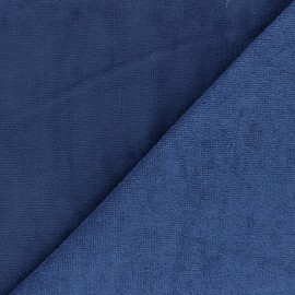 Tissu éponge Bambou - bleu denim x 10cm