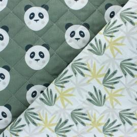 Tissu matelassé Réversible Maotey/Algao - vert x 10cm