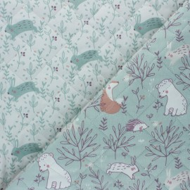 Quilted cotton fabric - Light green Silva/Hopla x 10cm