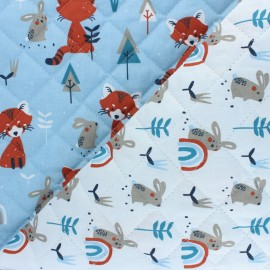 Quilted cotton fabric - Skyblue Padwan/Ladino x 10cm