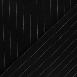 Tissu jersey maille Tailor - noir x 10cm