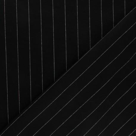 Tissu jersey maille Tailor - bleu marine x 10cm