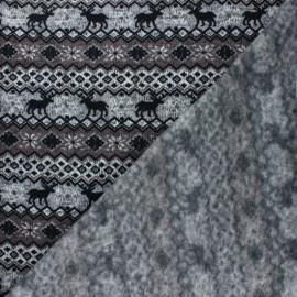 Tissu pull Christmas Jacquard - gris x 10cm