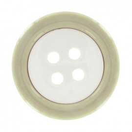 Bouton Clown bicolore beige/rose pâle